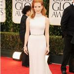 Jessica Chastain at the 2012 Golden Globe Awards 102819