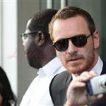 Michael Fassbender greets fans outside of his hotel in Toronto  94066