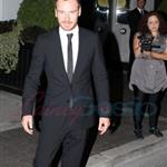 Michael Fassbender greets fans outside of his hotel in Toronto  94076