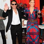 Marc Anthony and Jennifer Lopez at the final Dolphins game of the season 52841