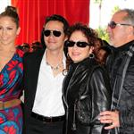 Marc Anthony and Jennifer Lopez at the final Dolphins game of the season with Gloria Estefan 52842