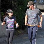 Fergie and Josh Duhamel go running before the Nine Hollywood premiere 51988