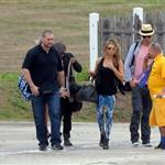 Fergie and Josh Duhamel arrive in St Barts for NYE 2010  75954