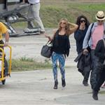 Fergie and Josh Duhamel arrive in St Barts for NYE 2010  75955