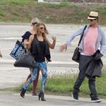 Fergie and Josh Duhamel arrive in St Barts for NYE 2010  75956