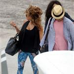Fergie and Josh Duhamel arrive in St Barts for NYE 2010  75964