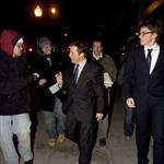 Michael J Fox and Edward Norton in Washington for inauguration  31056
