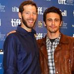 James Franco and Aron Ralston at the '127 Hours' press conference at the Hyatt Regency.  Photos from Joe Scarnici/Getty Images Entertainment 68595