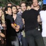 James Franco on the set of The End Of The World with Seth Rogen, Paul Rudd and Jason Segel 116247