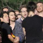 James Franco on the set of The End Of The World with Seth Rogen, Paul Rudd and Jason Segel 116248