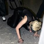 Lady Gaga falls at Heathrow 63880
