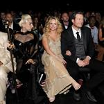 Lady Gaga, Miranda Lambert and Blake Shelton attend the 54th Annual Grammy Awards 105551
