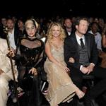 Lady Gaga, Miranda Lambert and Blake Shelton attend the 54th Annual Grammy Awards 105554