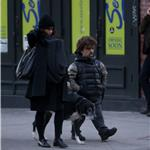 Peter Dinklage with wife Erica and their newborn daughter in New York 103861