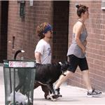 Peter Dinklage out for a walk with his dog and girlfriend in New York 86388