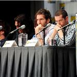 Peter Dinklage and Jason Momoa and writers David Benioff and D.B. Weiss at Game of Thrones Comic-Con 2011 90624