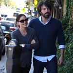 Jennifer Garner and Ben Affleck in Brentwood today  97292