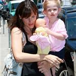 Jennifer Garner with bigger boobs holding Violet  22037