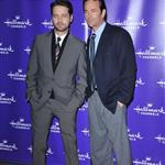 Jason Priestly and Luke Perry at Hallmark TCA party January 2011 76436
