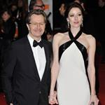 Gary Oldman and his wife at the 2012 BAFTAs  105866