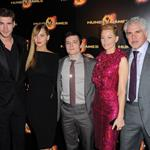 iam Hemsworth, Jennifer Lawrence, Josh Hutcherson, Elizabeth Banks and Gary Ross at the Paris Premiere of  The Hunger Games 111000