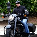 George Clooney celebrates Burn After Reading topping box office with motorcyle ride with friends in LA 24730