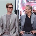 George Clooney Brad Pitt promote Ocean's Thirteen in 2007 86328