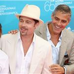 George Clooney Brad Pitt promote Burn After Reading in 2008 86331