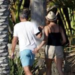 George Clooney and Stacy Keibler in Mexico  97818