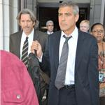 George Clooney in Washington for Darfur with John Prendergast 70612