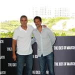George Clooney with Grant Heslov in Mexico to promote The Ides of March  89900