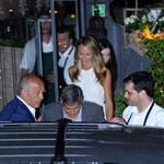 George Clooney and Stacy Keibler out for dinner in Italy 117544