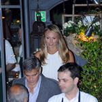 George Clooney and Stacy Keibler out for dinner in Italy 117546
