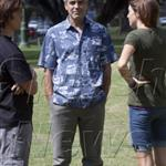 George Clooney in better spirits on the set of The Descendents in Hawaii 56821