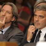 George Clooney at a Senate Foreign Relations Committee hearing along with human rights activist John Prendergast on Capitol Hill in Washington, DC 108946