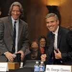 George Clooney at a Senate Foreign Relations Committee hearing along with human rights activist John Prendergast on Capitol Hill in Washington, DC 108949