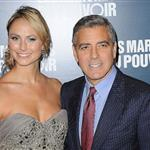 George Clooney and Stacy Keibler in Paris for The Descendants premiere  96596