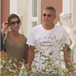 George Clooney meets Elisabetta Canalis parents on holiday in Sardinia 69139