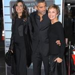 George Clooney with Elisabetta Canalis and his mother at the 2009 premiere of Up in the Air 106960