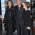 George Clooney with Elisabetta Canalis and his mother at the 2009 premiere of Up in the Air 106962