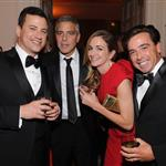 George Clooney at the 2012 White House Correspondents' Dinner with Jimmy Kimmel and Molly McNearney 112813