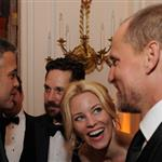 George Clooney at the 2012 White House Correspondents' Dinner with Paul Rudd, Elizabeth Banks and Woody Harrelson 112816