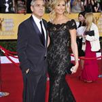 George Clooney and Stacy Keibler at the 2012 SAG Awards 104108