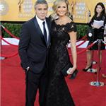 George Clooney and Stacy Keibler at the 2012 SAG AwardsGeorge Clooney and Stacy Keibler at the 2012 SAG Awards 104111
