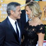 George Clooney and Stacy Keibler at the 2012 SAG Awards 104113