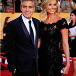 George Clooney and Stacy Keibler at the 2012 SAG Awards 104120