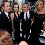 George Clooneyand Stacy Keibler at the 2012 SAG Awards with Angelina Jolie and Brad Pitt 104122