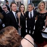 George Clooneyand Stacy Keibler at the 2012 SAG Awards with Angelina Jolie and Brad Pitt 104125