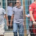 George Clooney shoots a commercial in Sarnico, Italy 121926