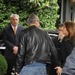 George Clooney Elisabetta Canalis arrive at their hotel in Milan  87141